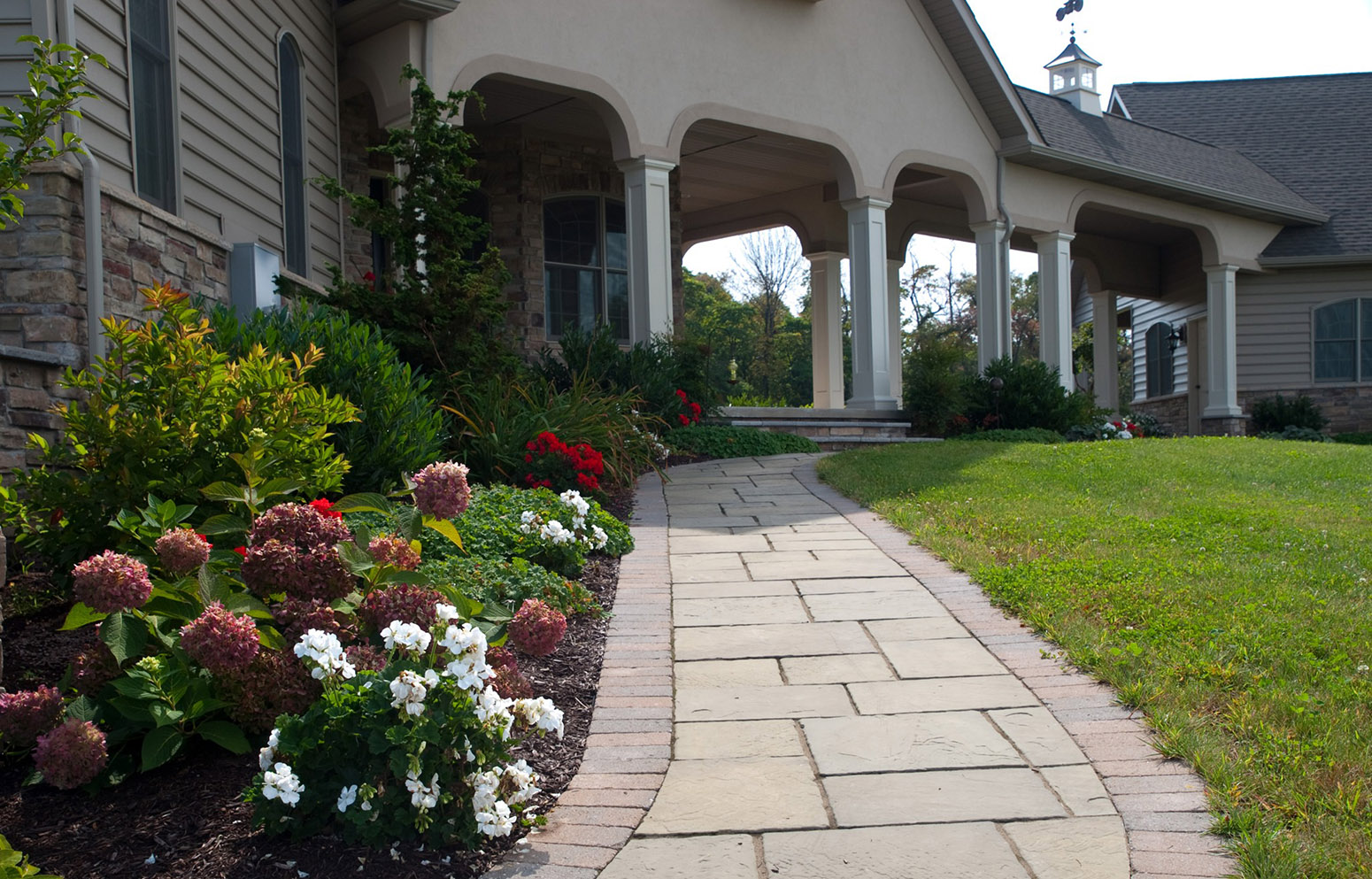 Natural stone ep henry paver walkways brick patio - Natural home ...
