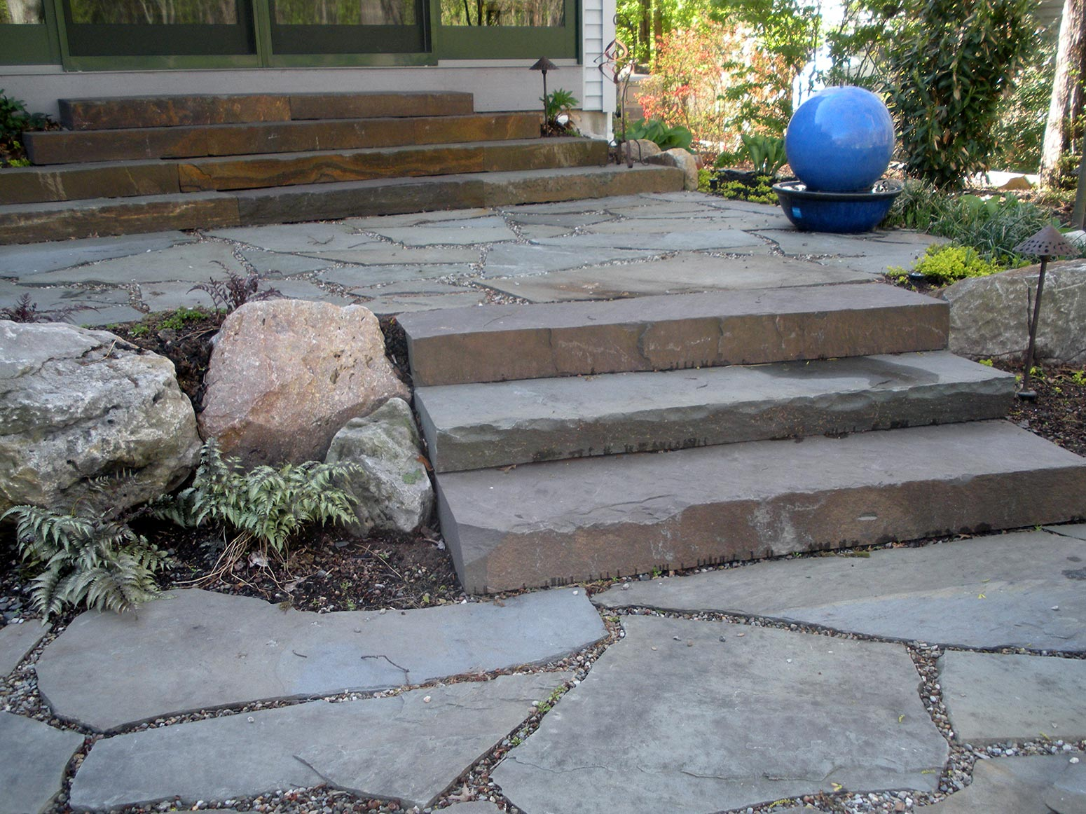 natural stone, ep henry paver walkways, brick patio designs, paver ... - Natural Stone Patio Designs