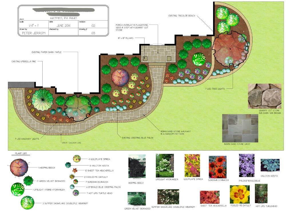 Bucks county landscaping services peter jerrom for Backyard landscape design plans